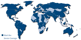 Black Box Network Services Worldwide Coverage