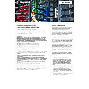 Selecting an ICT Cabling System