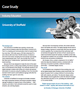 Case Study Digital Signage: University of Sheffield